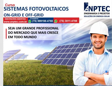 Curso Sistemas Fotovoltaicos –  ON-Grid e OFF-Grid – SALVADOR/BA