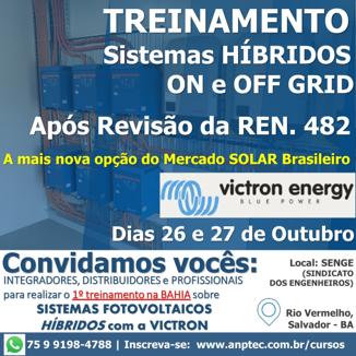 Curso de Sistemas Fotovoltaicos Híbridos (On e Off GRID) – VICTRON
